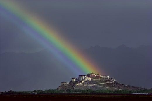 """""""Rainbow-over-the-Potala-Palace-Lhasa-Tibet"""""""