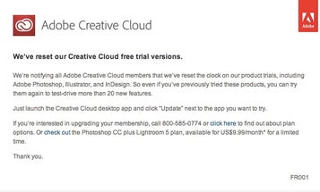 You Can Try Adobe Creative Cloud For a Month, Even If You've Already Done the Trial