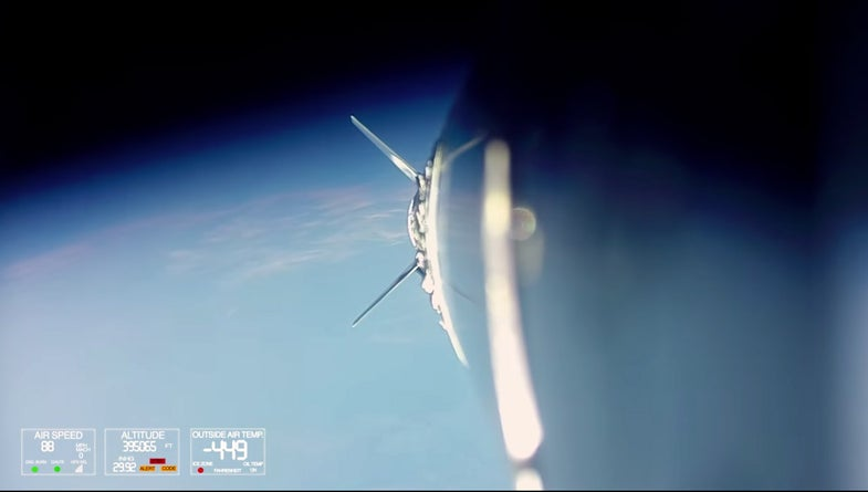 GoPro Footage Rocket to Space