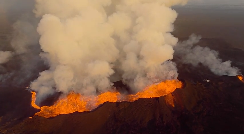 Drone Camera Melts In Volcano