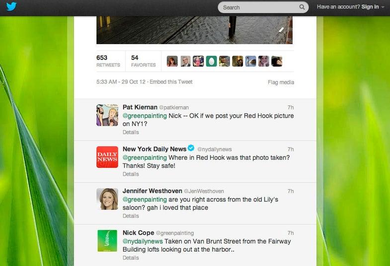 Sandy Twitter Journalism