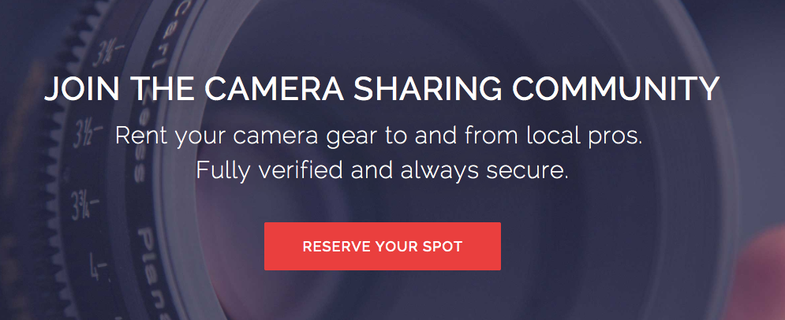 ShareGrid Peer to Peer Camera Rental Service
