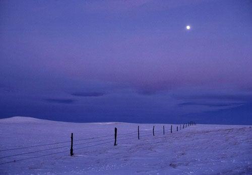 """Landscapes-After-Dark-A-Prairie-Winter-Moonrise"""