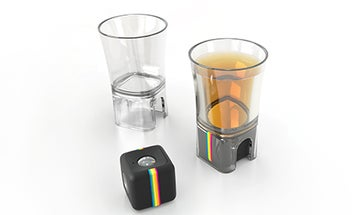 FYI: Polaroid Makes a Shot Glass Mount For Its Action Camera