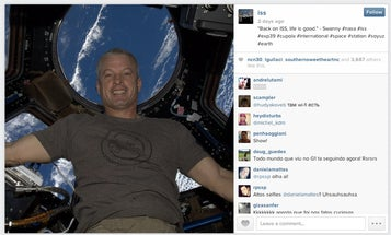 NASA Sends First Instagram from ISS