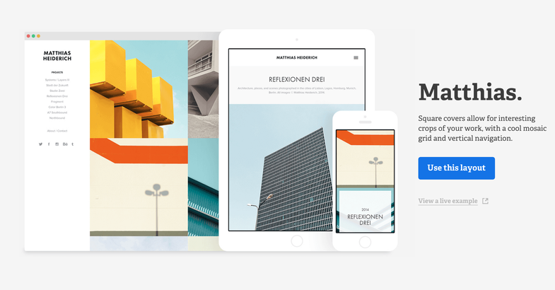 Adobe Portfolio website service