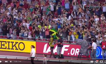 Usain Bolt Wins Race, Gets Smashed By Cameraman on Scooter