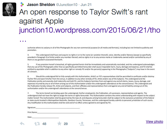 Photographer Calls Out Taylor Swift Over Unfair Image-Licensing Policy