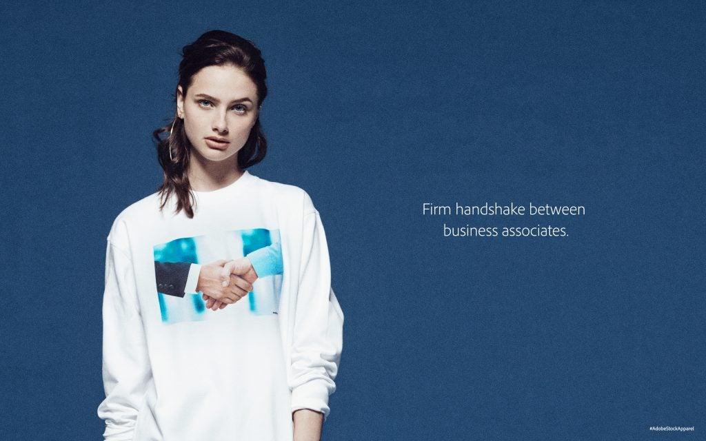Adobe fake stock photography clothing line
