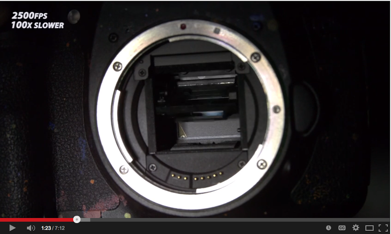 Watch a Camera Shutter at 10,000 fps slow motion