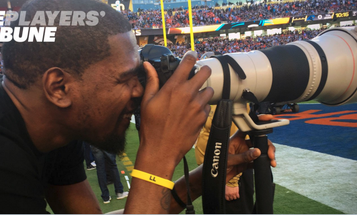 NBA Player Kevin Durant Was a Photographer At Super Bowl 50