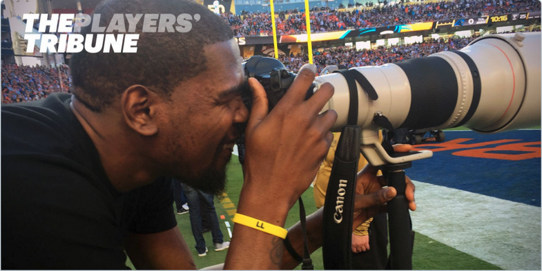 Kevin Durant Photographer at the Super Bowl