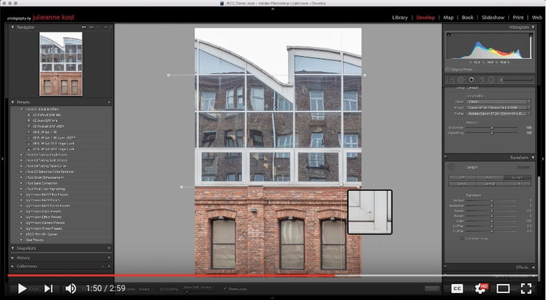 Adobe Lightroom Guided Upright Tool for Perspective Correction in Photos