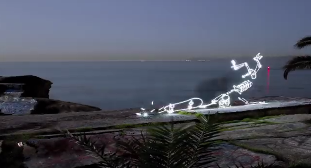 Light Painting Skateboard Stop Motion Video