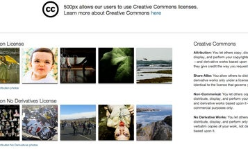 500px Now Allows Creative Commons Licensing
