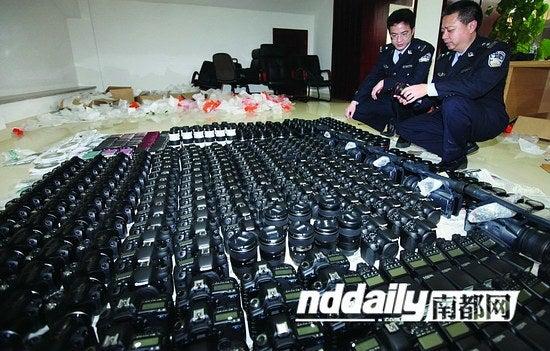 smuggled cameras
