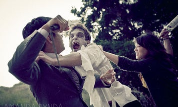 Zombie Attack Makes Engagement Portrait Session Way More Exciting
