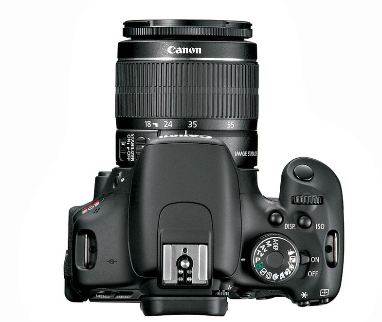 Canon T3i top