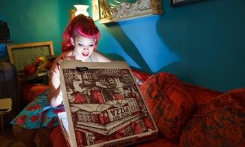 Chris Gampat's luminous pizza portraits