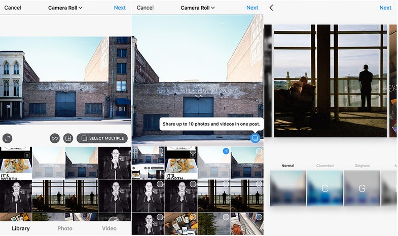 Instagram multiple photo posts