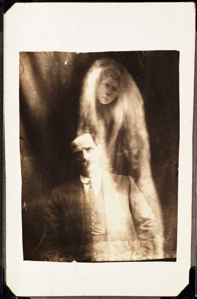 Man with spirit of his deceased second wife