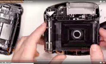 Watch a Fujifilm Instax Mini 8 Instant Film Camera Get a Teardown