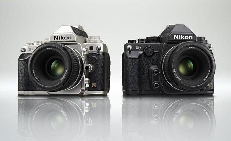 Nikon DF DSLR in Silver and Black
