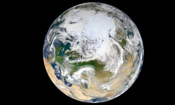 First Full Image of Earth as Seen From Above the North Pole