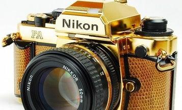 eBay Watch: 24 Karat Gold Nikon FA Camera Grand Prix '84 Edition