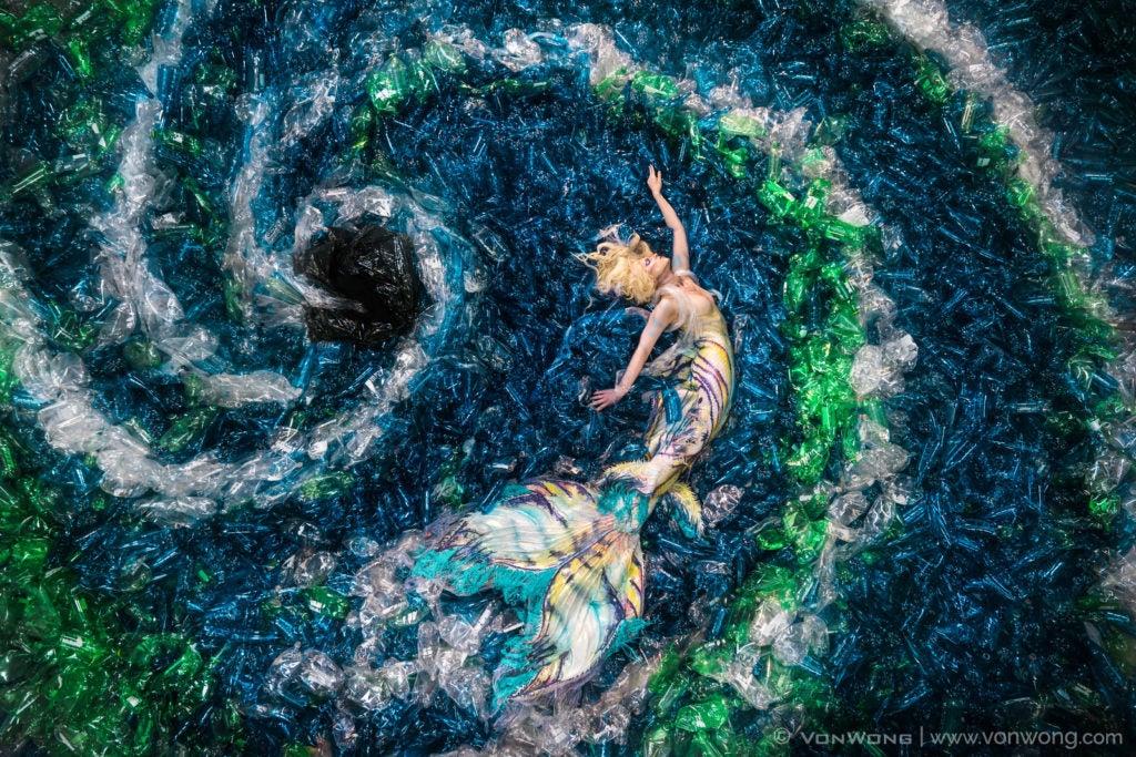 Benjamin Von Wong Mermaid Photo Project Plastic Bottles