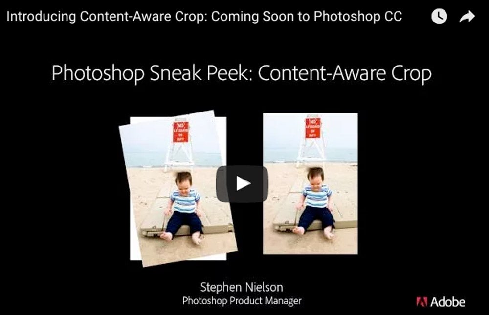 Photoshop Content-Aware Crop