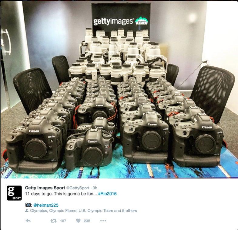 Getty Canon Cameras Olympics Rio 2016