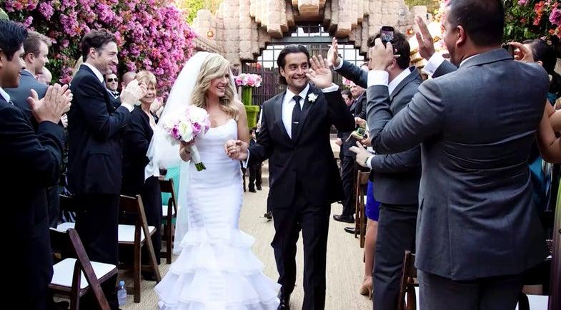 Shooting a wedding ceremony