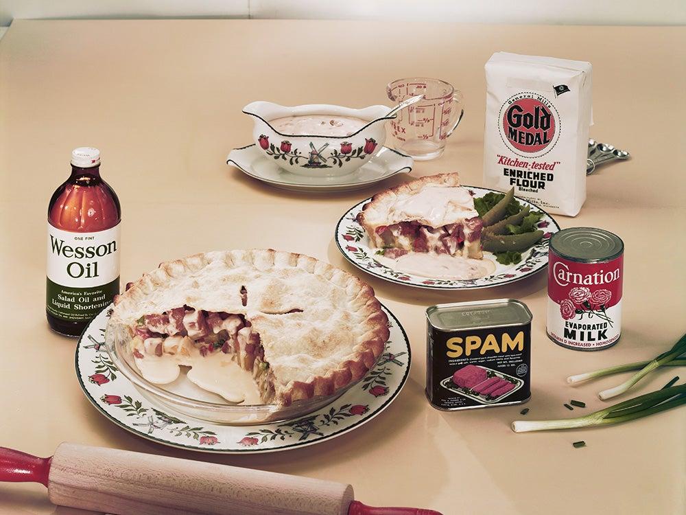 Meat pie in plate