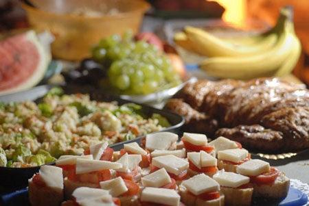 """Slideluck-Potshow-The-food-spread-at-Slideluck-Po"""