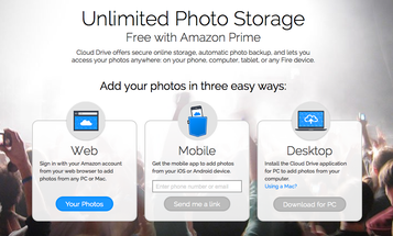 Amazon Prime Now Includes Unlimited Photo Storage Including Raw Files