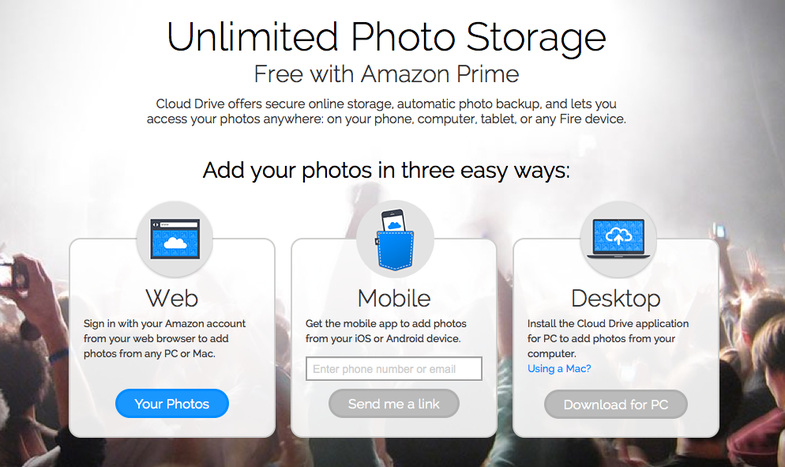 Amazon Prime Free Unlimited Photo Storage Including Raw Files