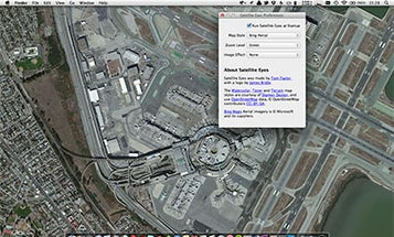 Satellite Eyes App Changes Your Computer Background To Nearby Satellite Shot
