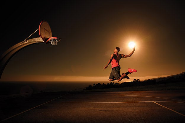 Dustin Snipes shoots a clever portrait of an NBA star