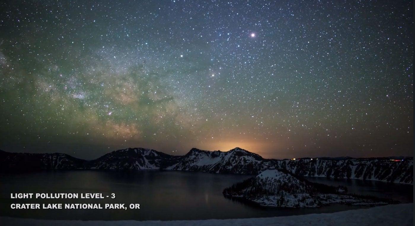 Night Sky Photography Light Pollution Video