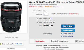 eBay Watch: Incredible Deal on Canon 24-105mm f/4L IS Lens