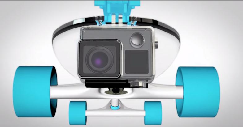 Jelly RiserBlocks Integrated GoPro Camera Mount Skateboard