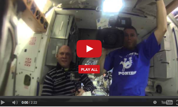 Astronauts Float a GoPro Camera Inside a Floating Blob of Water