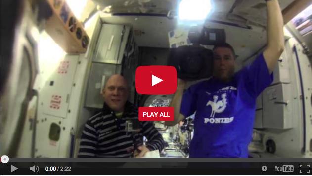 Astronauts put gopro in zero gravity water blob