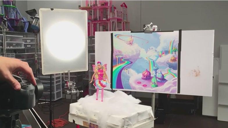 barbie Photoshoot Behind the scenes
