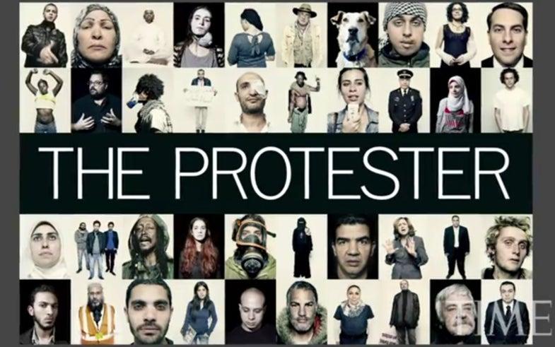 Time protestor