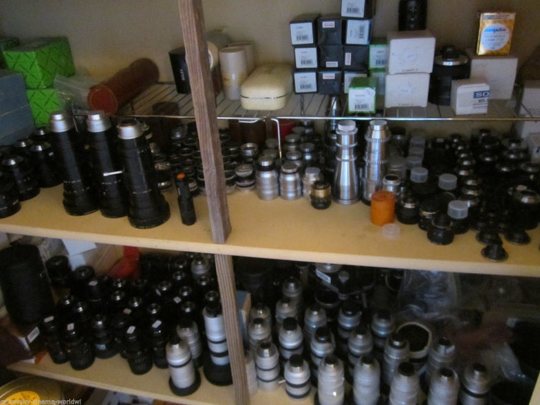 Classic cinema lens collection on-sale for a million dollars on ebay