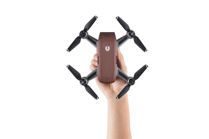 DJI Spark Drone Bear in hand