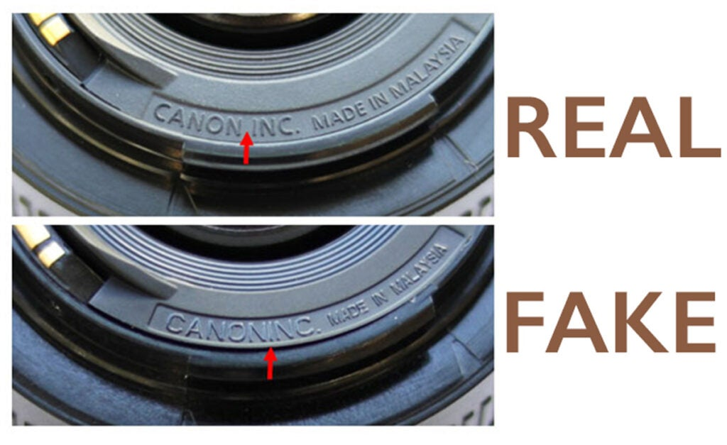 Fake Canon Lenses