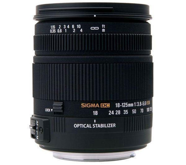 Sigma 18–125mm f/3.8–5.6 DC OS HSM